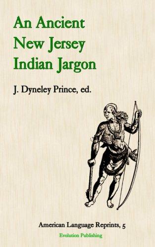 9781889758831: An Ancient New Jersey Indian Jargon (American Language Reprints Series)
