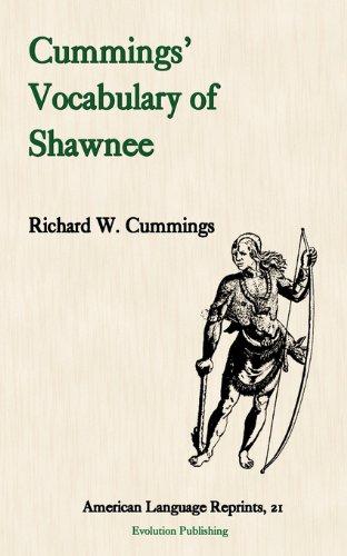 9781889758954: Cummings' Vocabulary of Shawnee (American Language Reprints)