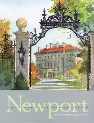 NEWPORT, AN ARTIST?S IMPRESSION OF ITS ARCHITECTURE AD HISTORY.