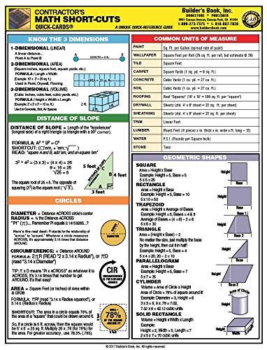 9781889892283: Quick-Card: Contractor's Math Short-Cuts