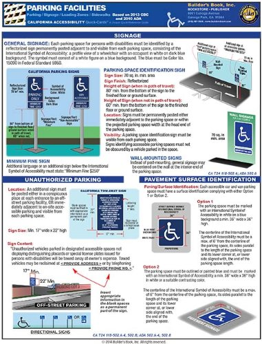 9781889892306: California Accessibility for Parking Facilities Laminated Quick-Card