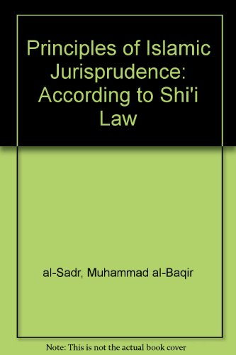 9781889999371: Principles of Islamic Jurisprudence: According to Shi'i Law