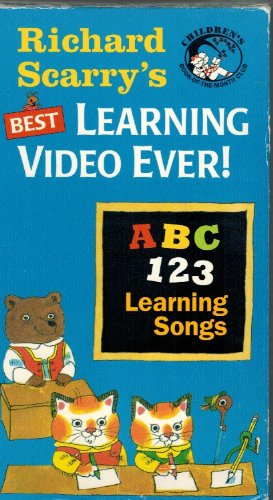 9781890008215: Richard Scarry's Best Learning Video Ever - ABC-123-Learning Songs