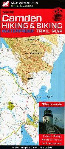 9781890060190: Camden, Maine: Hiking & Biking Trail Map