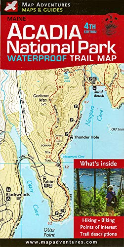 9781890060244: Acadia National Park Waterproof Trail Map, Maine