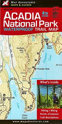 9781890060244 Acadia National Park Waterproof Trail Map Maine