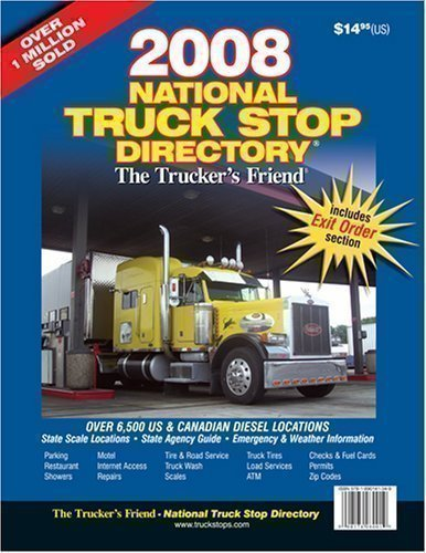 9781890141349: 2008 National Truck Stop Directory: The Trucker's Friend