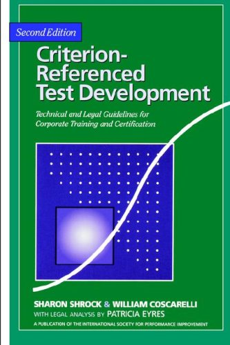 9781890289096: Criterion-Referenced Test Development 2nd Edition