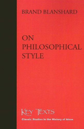 9781890318536: On Philosophical Style (Key Texts)