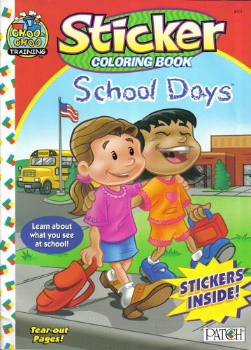 9781890323912: STICKER COLORING BOOK (SCHOOL DAYS (TEAR OUT PAGES))