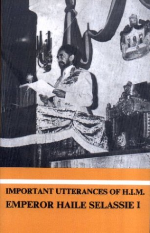 9781890358020: Important Utterances of H.I.M Emperor Haile Selassie I