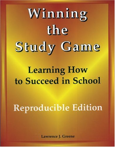 9781890455484: Winning the Study Game: Reproducible Edition: Learning How to Succeed in School