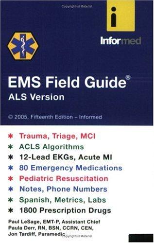 9781890495213: EMS Field Guide: ALS Version