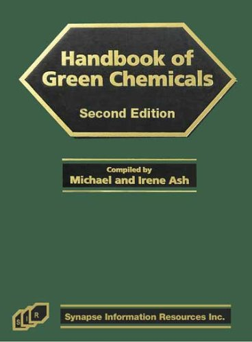 9781890595791: Handbook of Green Chemicals