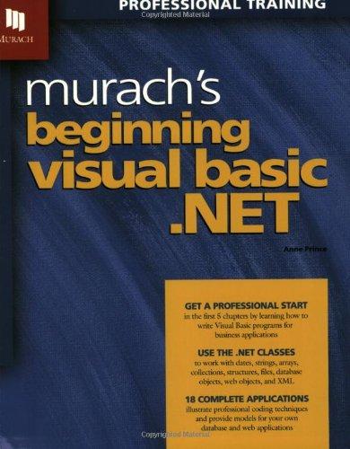 9781890774158: Murach's Beginning Visual Basic .Net