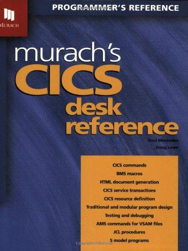 9781890774172: Murach's CICS Desk Reference (Programmer's Reference)