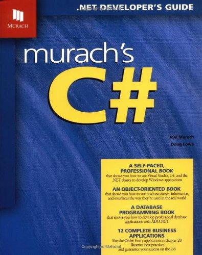 9781890774226: Murach's C#