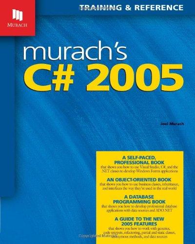 9781890774370: Murach's C# 2005