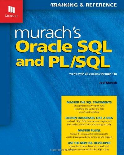 Murach's Oracle SQL and PL/SQL (Training &: Murach, Joel