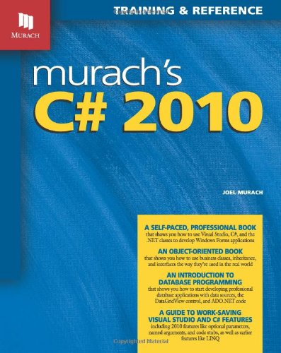 9781890774592: Murach's C# 2010