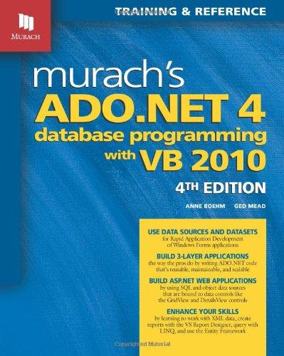 9781890774622: Murach's ADO.NET 4 Database Programming with VB 2010