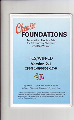 ChemSkill Foundations: Personalized problem sets for Introductory Chemistry CD ROM: Spain