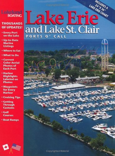 9781890839116: Lakeland Boating's Lakes Erie and St. Clair Ports 'o Call Cruise Guide