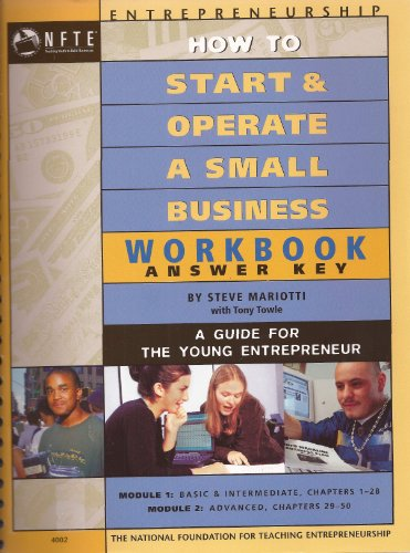 9781890859053: How to Start & Operate a Small Business: Workbook Answer Key, Module 1 and Module 2