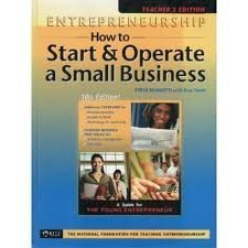 9781890859213: Entrepreneurship: How to Start and Operate a Small Business Teacher's Edition