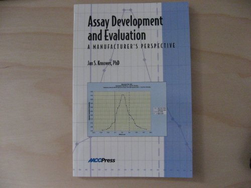 9781890883812: Assay Development and Evaluation: A Manufacturer's Perspective