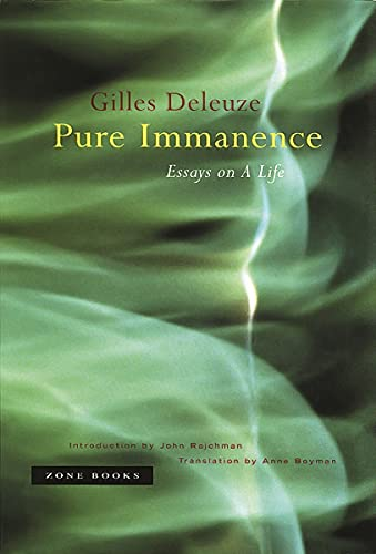 pure immanence essays on a life