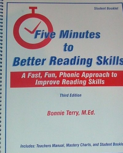 9781891106019: Five Minutes to Better Reading Skills - Student Booklet Only: A Fast, Fun, Phonic Approach to Improve Reading Skills