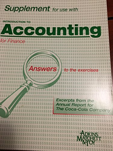 Introduction to Accounting for Finance Bankers: Alastair Matchett