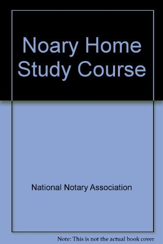 9781891133060: Notary Home Study Course
