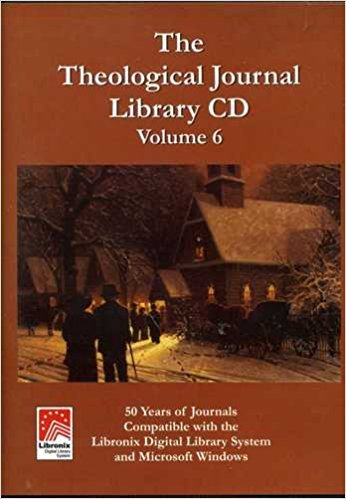 9781891175145: The Theological Journal Library CD Version 6.0 50 years of journals compatible with Libronix Digital Library System and Microsoft Windows
