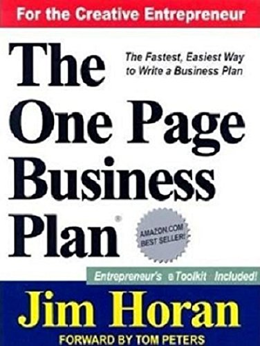 9781891315091: The One Page Business Plan for the Creative Entrepreneur