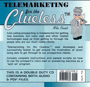 9781891440380: Telemarketing for the Clueless (CD, Audio & PDF) (Clueless Series)