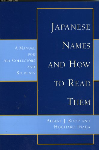 Japanese Names and How to Read Them: Albert J. Koop/