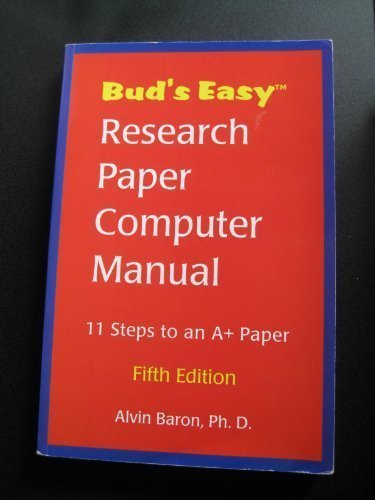 9781891707070: Bud's Easy Research Paper Computer Manual