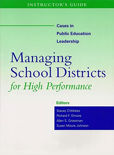 9781891792762: Instructor's Guide to Managing School Districts for High Performance