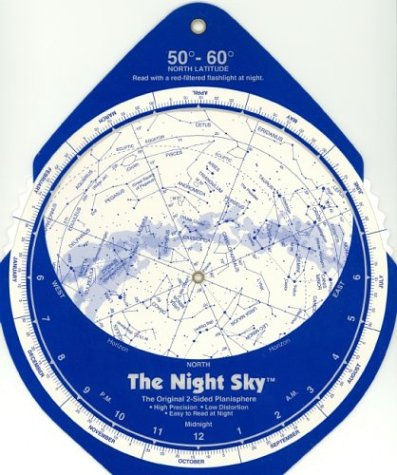 9781891938085: The Night Sky, 50°-60° (Large) Star Finder