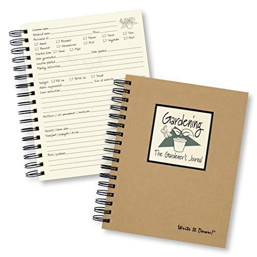 9781892033123: Gardening, The Gardener's Journal (Natural Brown) *NEW Edition