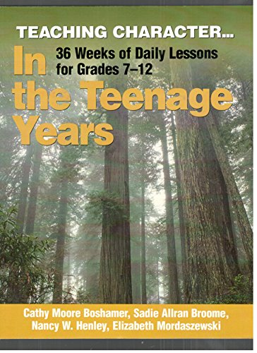 Teaching Character in the Teenage Years : Sadie Allran Broome;