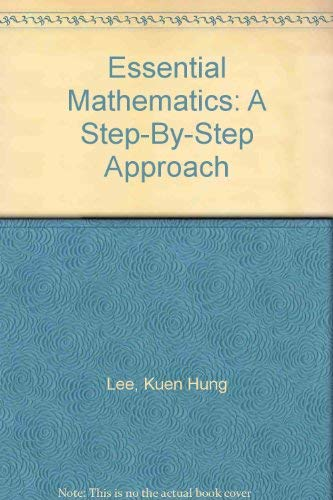 9781892060082: Essential Mathematics: A Step-By-Step Approach