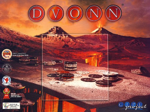 Dvonn (Toy) 9781892081827 DVONN is played on an elongated hexagonal board, with 23 white, 23 black and 3 red DVONN-pieces. In the beginning the board is empty. Th