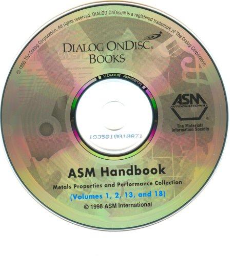 9781892140012: 3-6, 9: Asm Handbook: Metals Properties & Preformance Collection (ASM Handbooks on CD-ROM) (ASM Handbooks on CD-ROM)