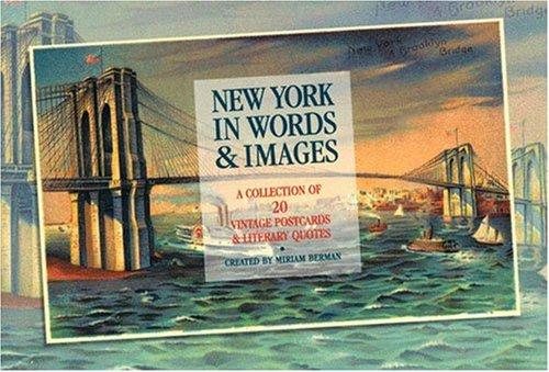 9781892145239: New York in Words & Images: A Collection of 20 Vintage Postcards & Literary Quotes