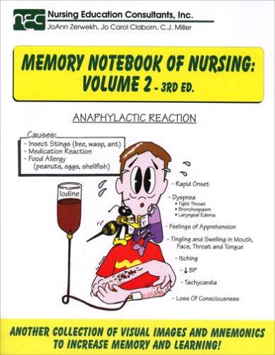 9781892155108: Memory Notebook of Nursing, Vol. 2