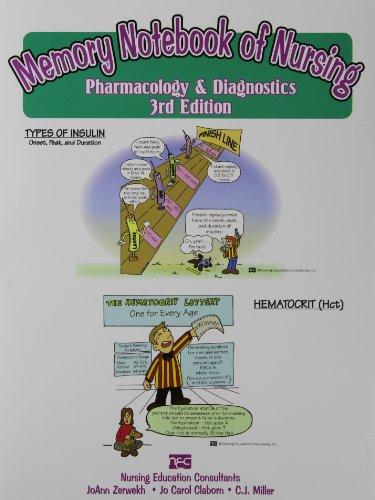 Memory Notebook of Nursing: Pharmacology & Diagnostics: Claborn, Jo Carol,