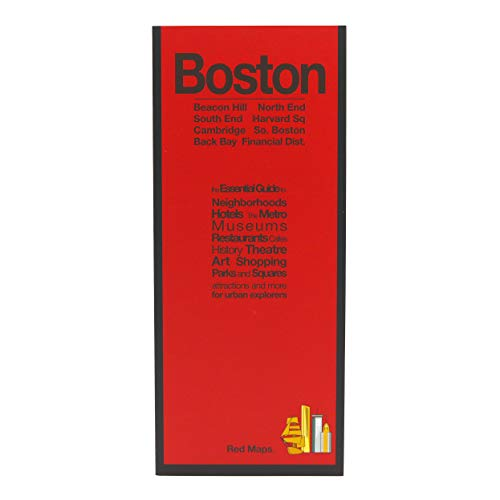 9781892238818: Red Maps BOSTON Street Map and City Guide